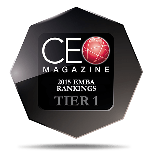 CEO Magazine Executive MBA Ranking 2015: Tier One