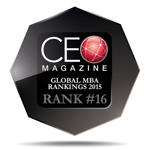 CEO Magazine Global MBA Ranking 2015: 16th Place