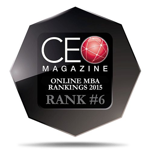 CEO Magazine Online MBA Ranking 2015: 6th Place