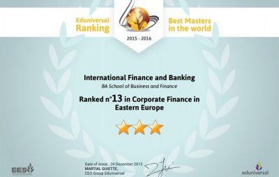 Best Masters Ranking 2016