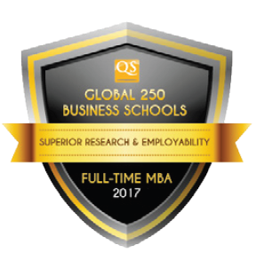 QS Global 250 Business Schools Report 2017 Award Badge