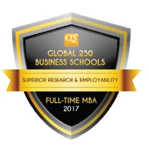 QS Global 250 Business Schools Report 2017 Award Badge